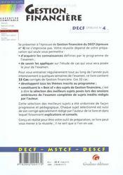 Best Of Sujets - Gestion Financiere - Decf Epreuve N 4 - 4ème de couverture - Format classique