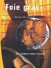 Foie Gras - Couverture - Format classique