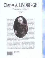 Charles A Lindgergh - 4ème de couverture - Format classique