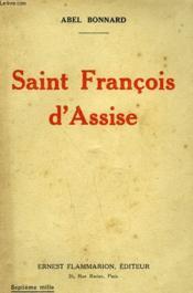 Saint Francois D'Assise. - Couverture - Format classique