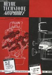 Revue Technique Automobile - N°235 - Couverture - Format classique