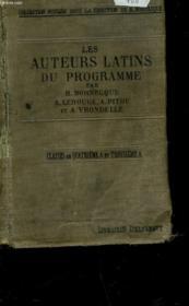 Les Auteurs Latins Du Programme - Classe De 4°a Et De 3°a - Couverture - Format classique