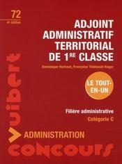 Adjoint administratif territorial de 1 re classe 4e - Grille adjoint administratif 1ere classe ...