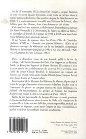 Journal t.2 ; à saint-germain-des-près - 4ème de couverture - Format classique