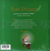 Tom pouce - 4ème de couverture - Format classique
