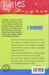 Amour (L') - 4ème de couverture - Format classique