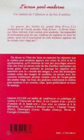 L'Ecran Post-Moderne, Un Cinema De L'Allusion Et Du Feu D'Artifice - 4ème de couverture - Format classique