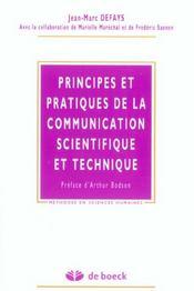 Principes et pratiques de la communication scientifique et technique - Intérieur - Format classique