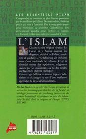 L'islam - 4ème de couverture - Format classique