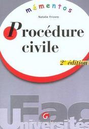 Memento procedure civile - Intérieur - Format classique