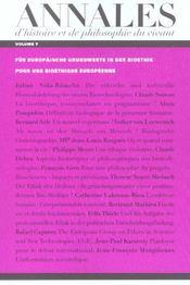 Annales d'histoire et de philosophie du vivant, n 7, les cellules souches (les) - Intérieur - Format classique