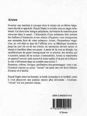 Aroun - 4ème de couverture - Format classique