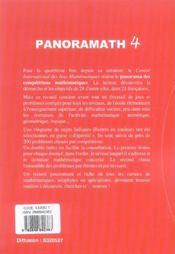 Panoramath 4 - 4ème de couverture - Format classique