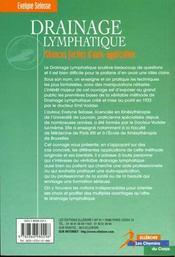 Drainage Lymphatique - Meth. Dr Vodder - 4ème de couverture - Format classique