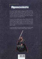 Anachron t.1 ; le retour de la bête - 4ème de couverture - Format classique