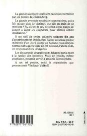 La trinité du mal ; ou réquisitoire pour servir au procès posthume de Lénine, Trotsky, Staline - 4ème de couverture - Format classique