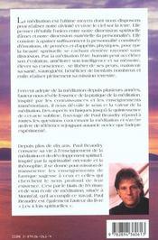 Ecoute Du Silence - La Meditation - 4ème de couverture - Format classique