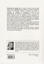 Humeurs de papier - 4ème de couverture - Format classique