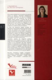 L'équivalence en droit de l'entreprise - 4ème de couverture - Format classique