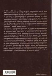 Sur Les Traces De L'Homo Mathematicus Les Mathematiques Avant Euclide Mesopotamie Egypte Grece - 4ème de couverture - Format classique