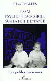 Essai Psychopedagogique Surla Petite Enfance - Intérieur - Format classique