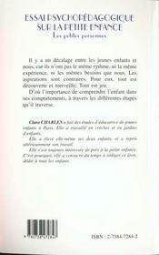 Essai Psychopedagogique Surla Petite Enfance - 4ème de couverture - Format classique