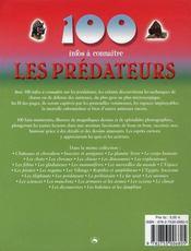 100 Infos A Connaitre ; Les Prédateurs - 4ème de couverture - Format classique