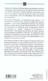 Faut-Il Faire Taire Tariq Ramadan ? - 4ème de couverture - Format classique