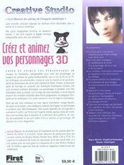 Creer Et Animer Vos Personnages 3d - 4ème de couverture - Format classique