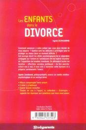 Les enfants dans le divorce - 4ème de couverture - Format classique