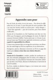 Apprendre sans peur (2e édition) - 4ème de couverture - Format classique