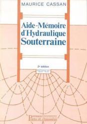 Aide-Memoire D'Hydraulique Souterraine - Couverture - Format classique