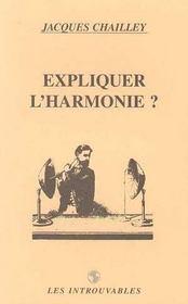 Expliquer L 'Harmonie - Intérieur - Format classique