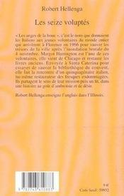 Les Seize Voluptes - 4ème de couverture - Format classique