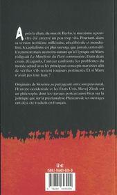 Le spectre rode toujours ; actualite du manifeste du parti communiste - 4ème de couverture - Format classique
