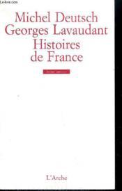 Histoires De France - Couverture - Format classique