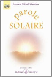 Parole solaire - Couverture - Format classique