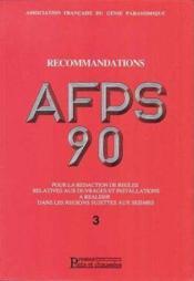 Recommandations Afps 90 Pour La Redaction De Regles Relatives Aux Ouvrages Et In - Couverture - Format classique