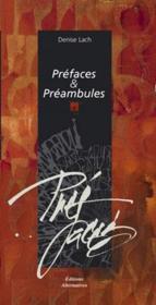 Préfaces et préambules - Couverture - Format classique