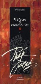 Préfaces et préambules - Intérieur - Format classique