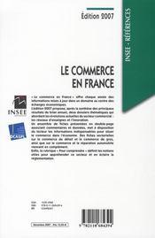 Le commerce en France (édition 2007) - 4ème de couverture - Format classique