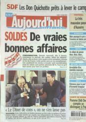 Aujourd'Hui En France N°1862 du 09/01/2007 - Couverture - Format classique