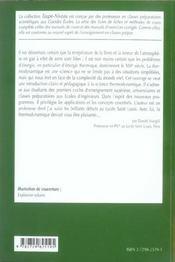 Thermodynamique Fiches Methodes Et Exercices Corriges 1re Annee Mpsi-Pcsi-Ptsi - 4ème de couverture - Format classique