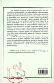 Le Village Peripherique ; Un Autre Visage De La Banlieue - 4ème de couverture - Format classique
