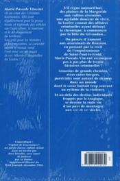 Lozere Grandes Affaires Criminelles - 4ème de couverture - Format classique