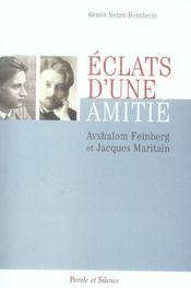 Eclats D'Une Amitie Avshalom Feinberg Jacques Maritain - Intérieur - Format classique