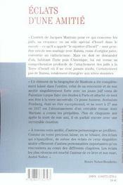 Eclats D'Une Amitie Avshalom Feinberg Jacques Maritain - 4ème de couverture - Format classique