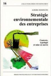 Strategie Envir.Entreprise - Couverture - Format classique
