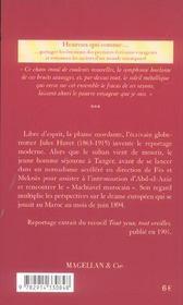 Tanger - 4ème de couverture - Format classique