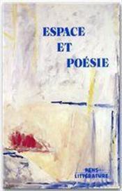 Espace et poésie - Couverture - Format classique